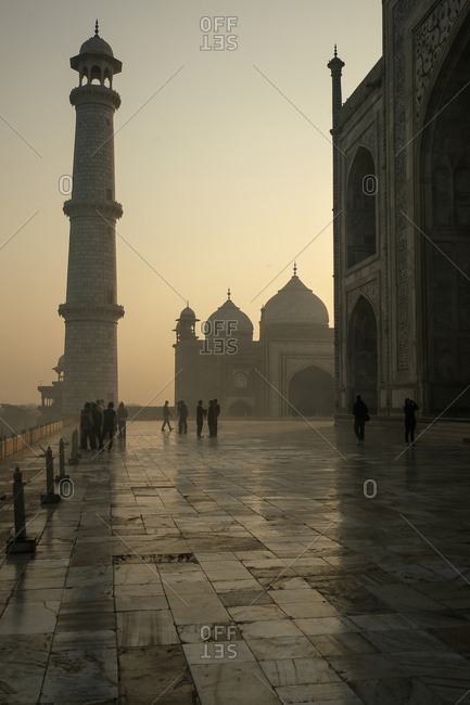 Agra, India - January 12, 2016: The Taj Mahal in Agra.