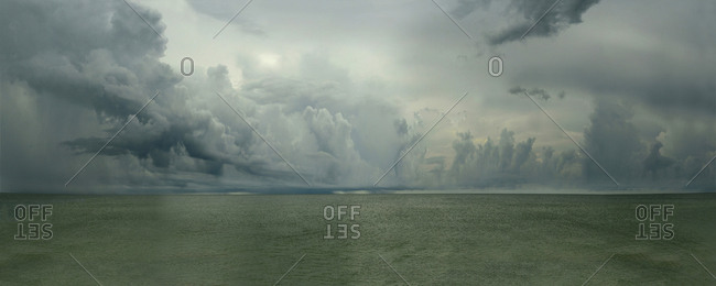 Clouds over the Gulf of Mexico in Naples, Florida.