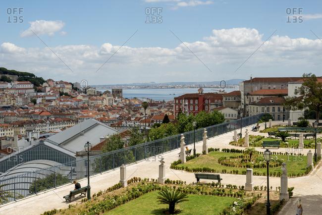 Lisbon, Portugal - July 20, 2014: The Garden of San Pedro de Alcantara.