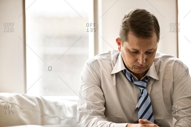 Despondent businessman