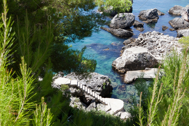 Hidden swimming spot at the Albanian riviera
