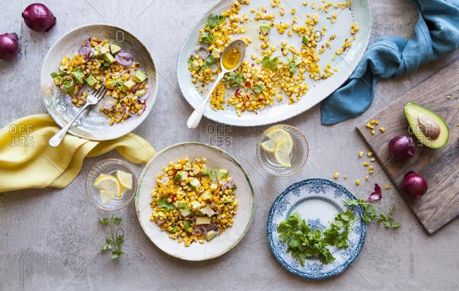 Mixed corn salad
