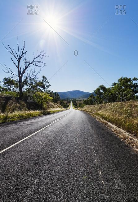 Empty road in Queensland Australia
