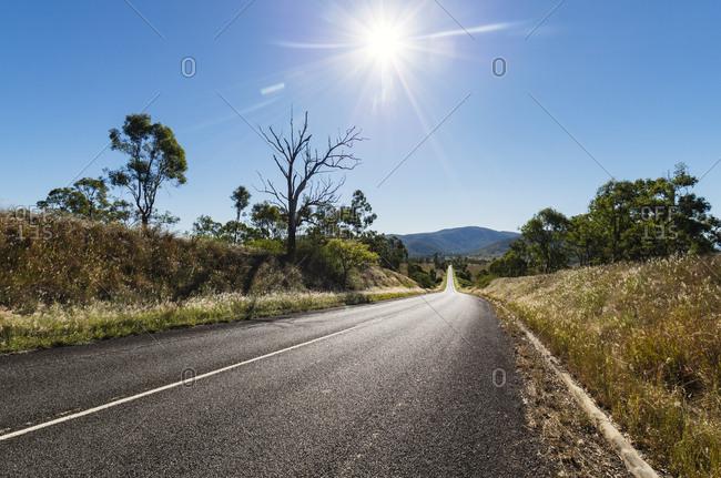 Sunny road in Queensland Australia