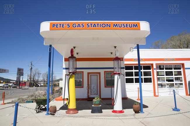 Williams, Arizona, USA - April 6, 2017: Pete's Gas Station Museum in Williams, Arizona