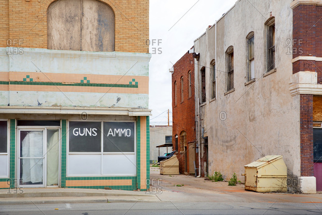 Old abandoned shop fronts in Sweetwater, Texas