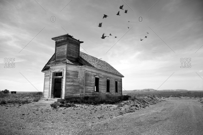 An abandoned church in West Texas