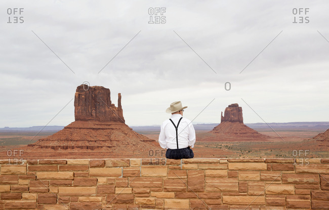 Man overlooking Navajo Tribal park
