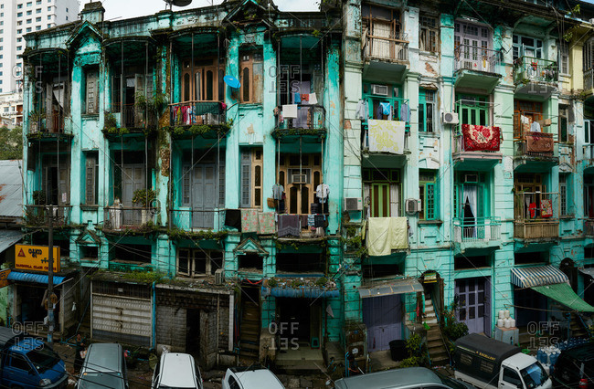 Yangon, Myanmar - August 7, 2015: