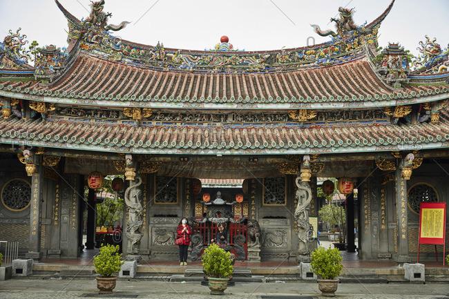Taipei, Taiwan - December 29, 2016: Dalongdong Baoan Temple