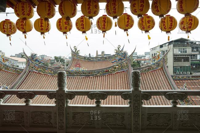Roof of the Dalongdong Baoan Temple in Taipei, Taiwan