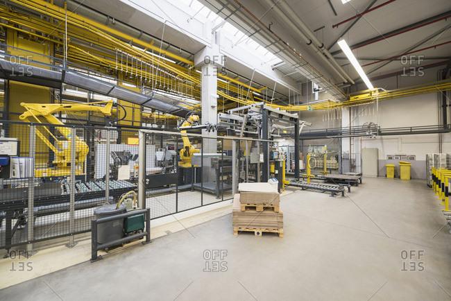 Factory shop floor- industrial robot