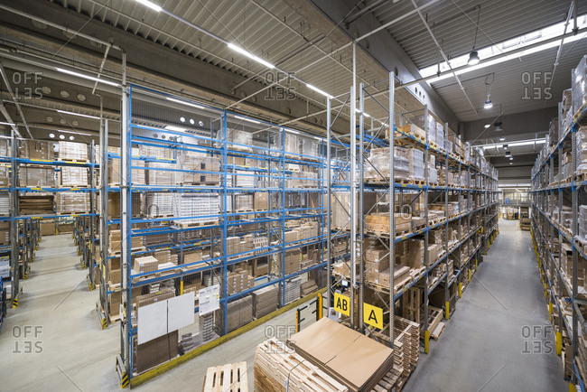 High rack warehouse in factory