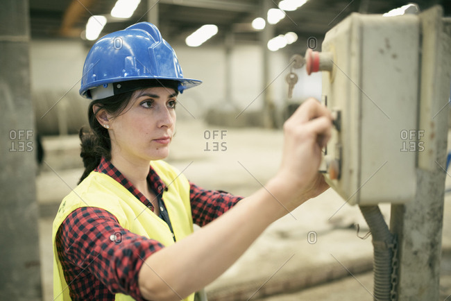 Woman working a factory- portrait