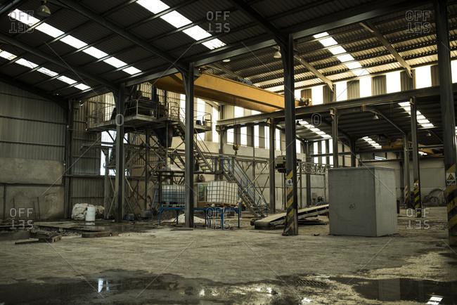 Empty factory warehouse