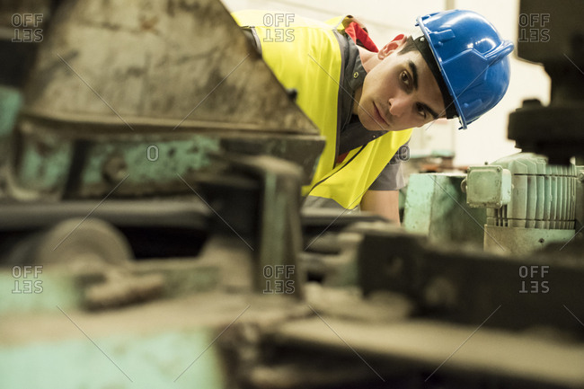Man working a factory- portrait