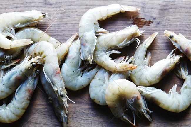Close-up of fresh shrimp - Offset