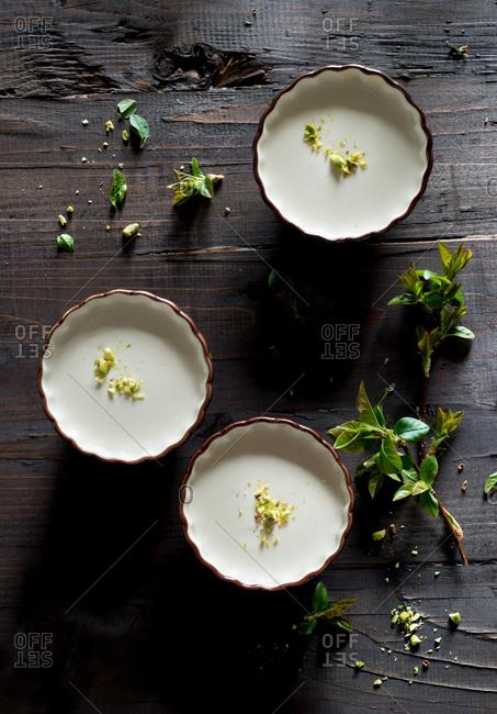 Panna cotta with pistachios