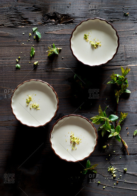 Panna cotta with pistachios
