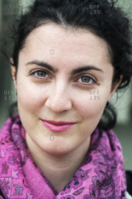 Close-up portrait of smiling woman