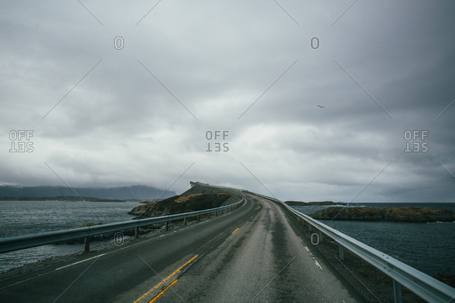 The amazing bridge in the middle of the Atlantic road