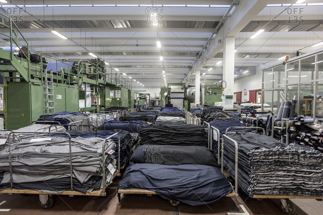 Trivero, Italy - March 1, 2017: Italian textile factory