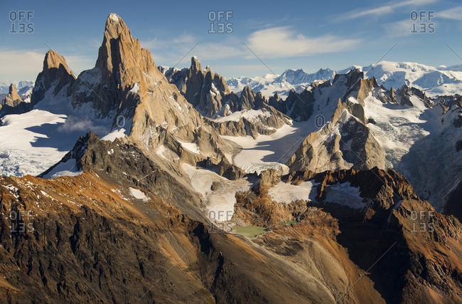 Fitzroy mountains in Patagonia, South America