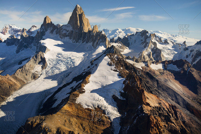 Fitzroy mountains in Patagonia