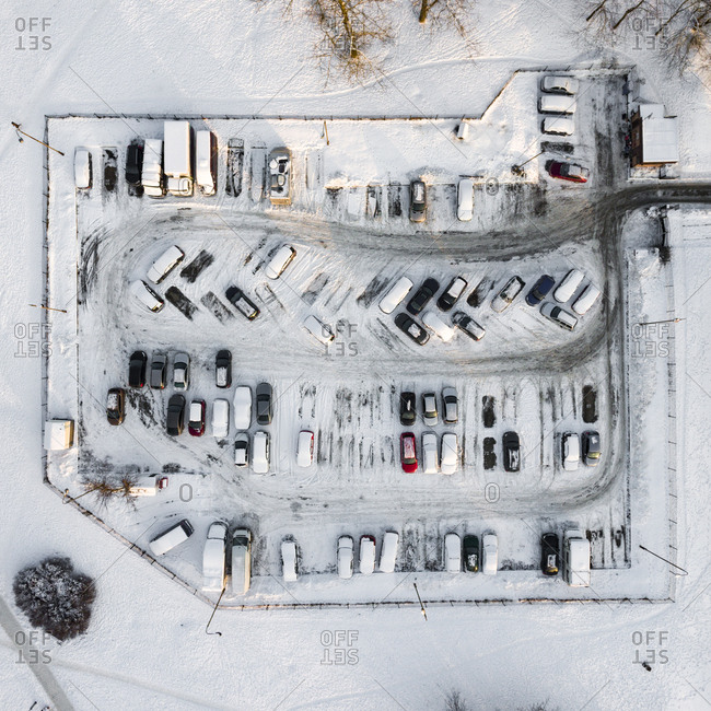 Parking lot in Vilnius, Lithuania