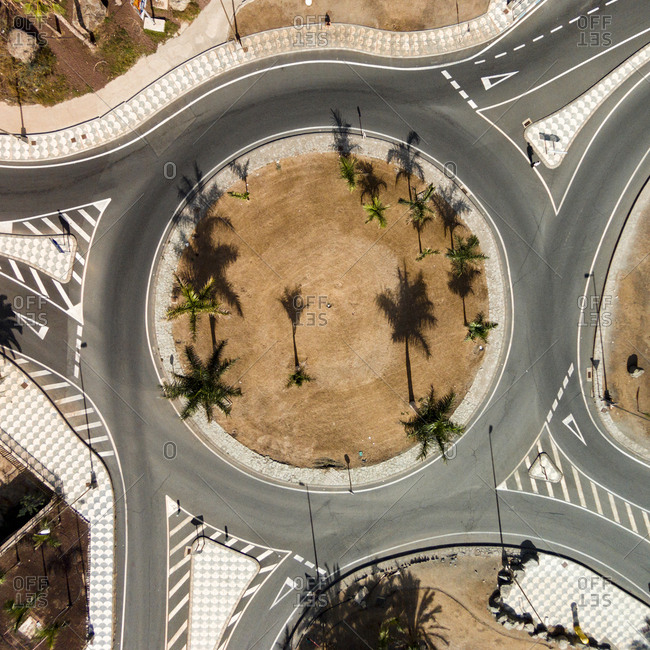 Roundabout road in Gran Canaria, Canary Islands, Spain