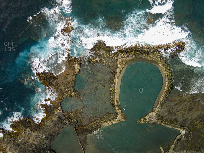 Natural Atlantic Ocean water pool in Gran Canaria, Canary Islands, Spain, Spain