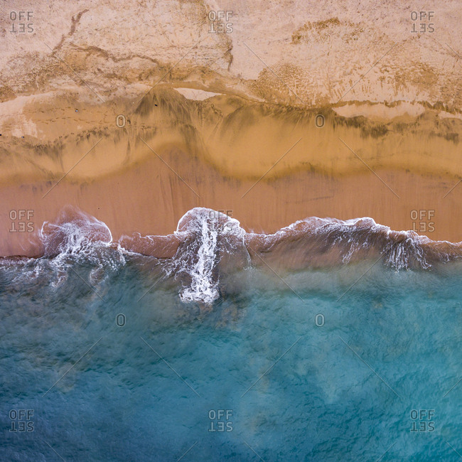 Aerial view of a beach in Gran Canaria, Canary Islands, Spain