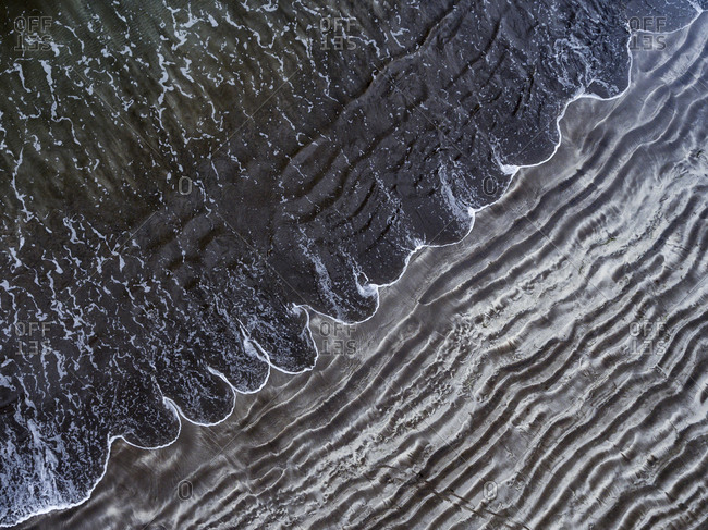 Waves on the shore of Maspalomas, Gran Canaria, Canary Islands, Spain