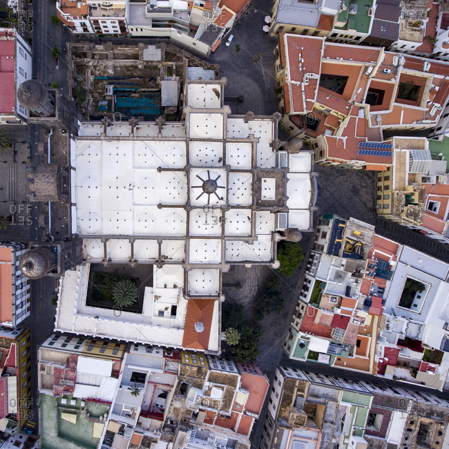 High angle view of Las Palmas, Gran Canaria, Spain