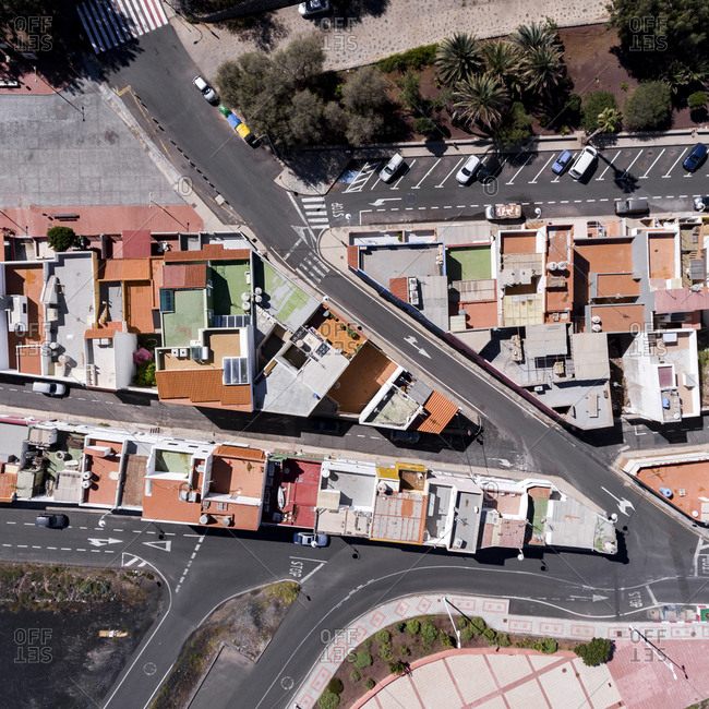 High angle view of Gran Canaria, Canary Islands, Spain