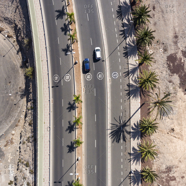High angle view of streets in Maspalomas, Gran Canaria, Canary Islands, Spain