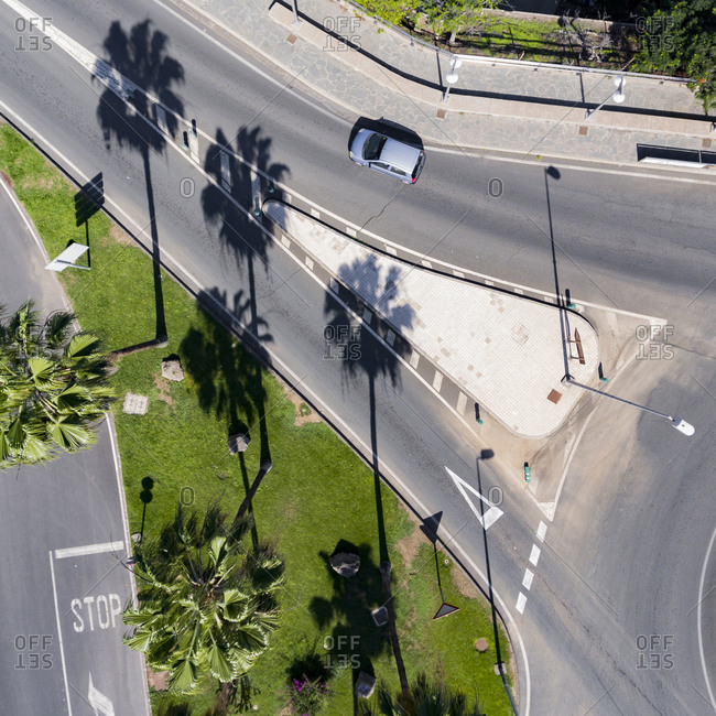 High angle view of streets in Gran Canaria, Canary Islands, Spain