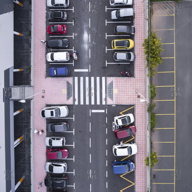 Parking lot in Maspalomas, Gran Canaria, Canary Islands, Spain