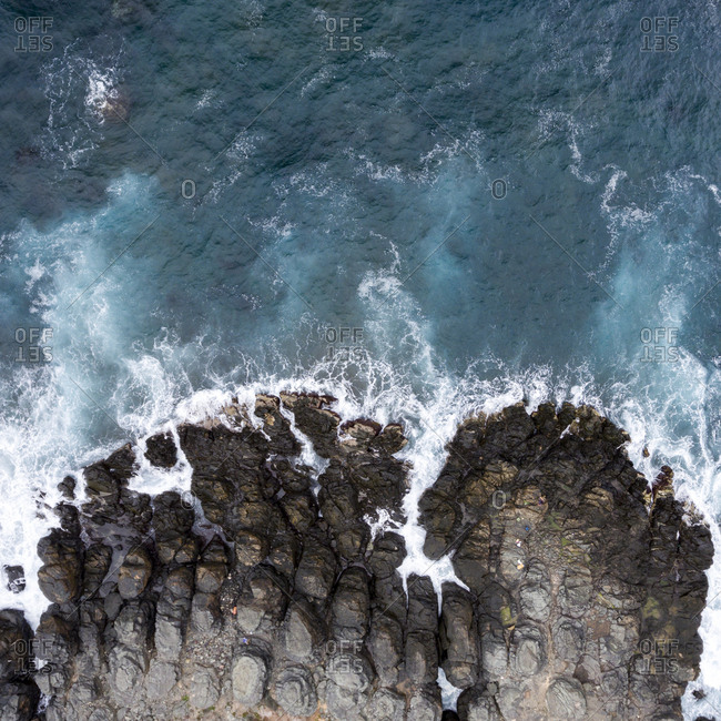 Aerial view of the coast of Gran Canaria, Canary Islands, Spain