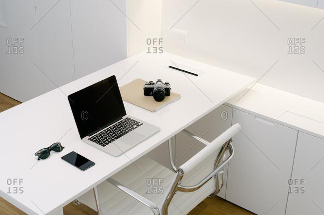 Minimalistic and organized office desk