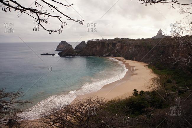 Beach by cliffs in Brazil
