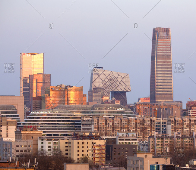 Beijing, China - March 23, 2016: Chaoyang central business district