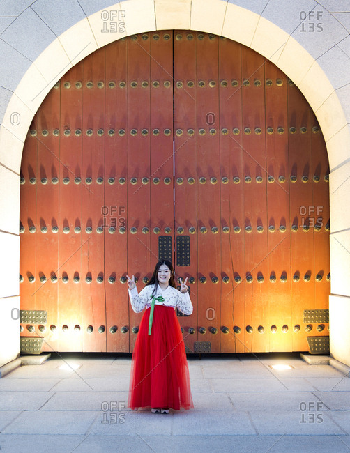 Seoul, South Korea - December 5, 2015: South Korea, Seoul, Gyeongbokgung palace gates