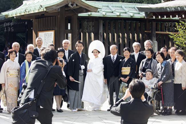 Tokyo, Japan - November 20, 2015: Wedding at Meiji shrine
