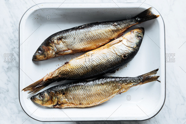 Whole fish in a baking dish