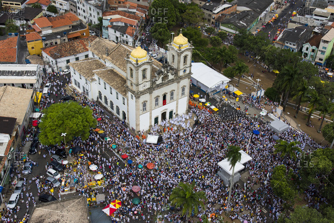 Salvador da Bahia, Brazil - January 12, 2017: The Cleansing of the Bomfim Church in Salvador da Bahia, Brazil - Lavagem da Igreja do BomFim