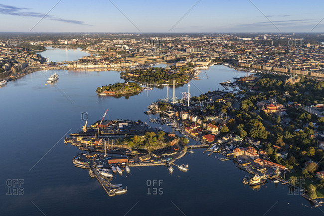 Aerial view of Stockholm old town, Sweden