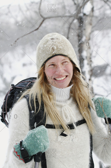 Portrait of happy skier