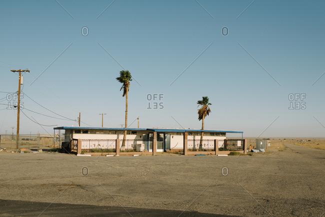 Abandoned house in California desert