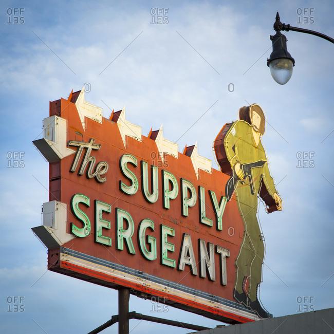 Los Angeles, California, USA - April 26, 2017: Vintage sign in Los Angeles, California